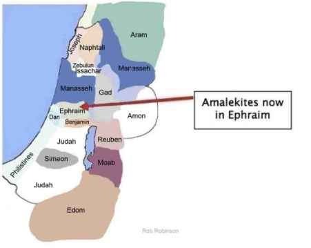 Amalekites in Ephraim