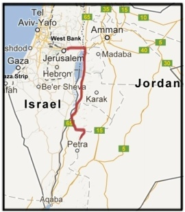 Map escape rout of Israel