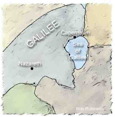Map of Galilee Reduced