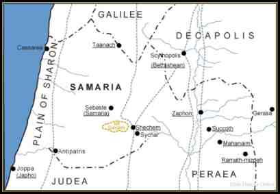 Samaria Map